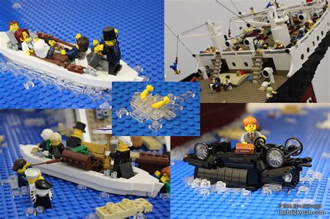 lego sinking ship titanic disaster model in lego i m the minifig of the