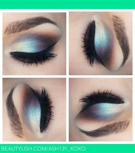 silver  blue eyeshadow ashley ss ashyxoxo