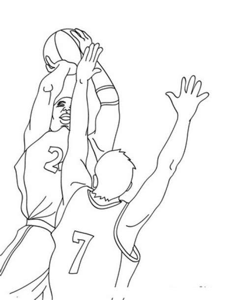 colorear jugadores de baloncesto jugando basquetbol