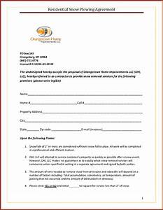 snow removal contract template commercial sample free With snow removal contract template free