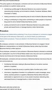 Download Human Resources Manual Template Word For Free