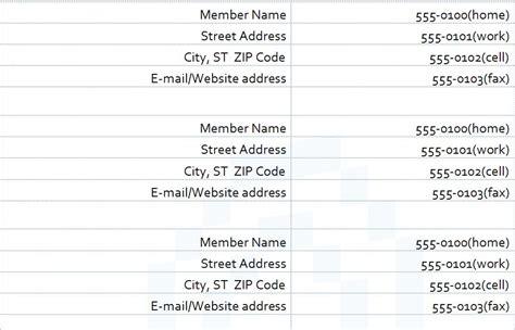 Church Phone Directory Template by Church Directory Template Directory Template For Church