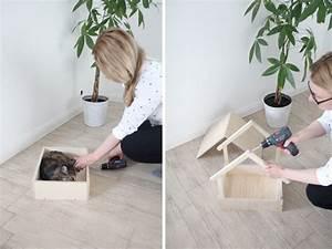 Bodenplatte Selber Machen : diy stillvolles katzenbett selbst bauen design dots ~ Whattoseeinmadrid.com Haus und Dekorationen