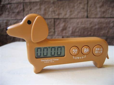 stuck   dachshund fridge magnet timer petsladycom