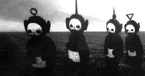 teletubbies  black white    horror show