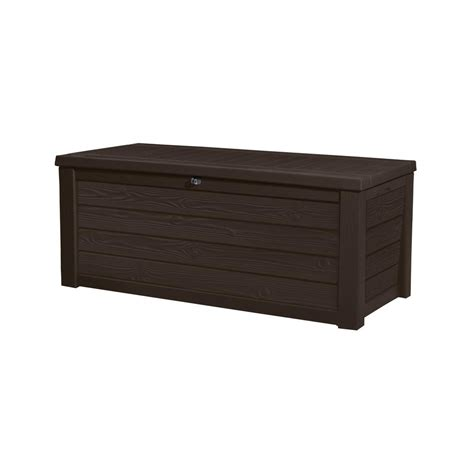 keter westwood 150 gal resin deck box in espresso brown