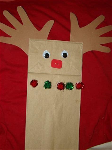 preschool crafts for november 2012 280 | reindeer paper bag puppet