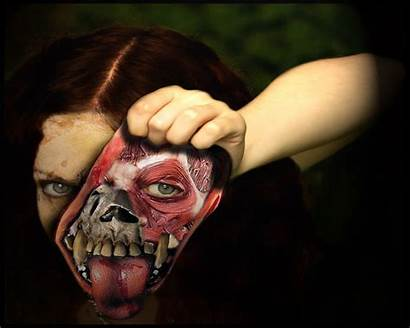 Scary Face Faces Wallpapers Halloween Clown Clowns