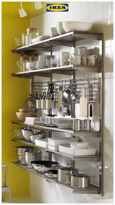ikea kungsfors storage solution  comprised  open