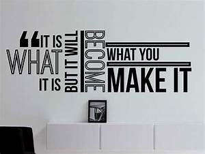 It Is What It I... Wall Typography Quotes