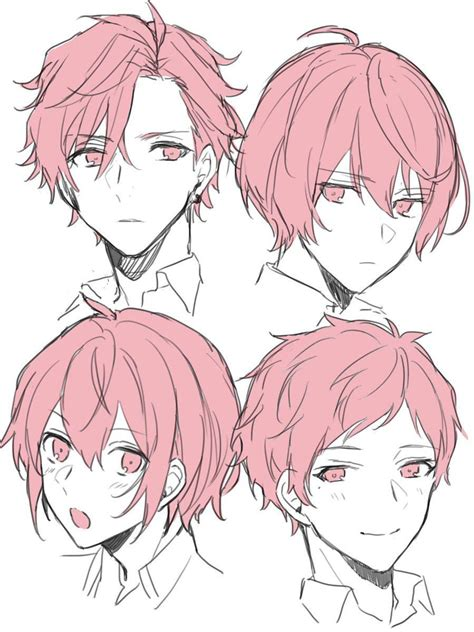Anime Hairstyles by Anime Hair Drawing Reference And Sketches For Artists