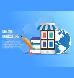online bookstore template free downloads school flat design composition royalty free vector image
