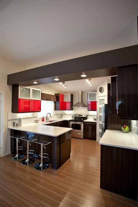 modern  shaped kitchen designs