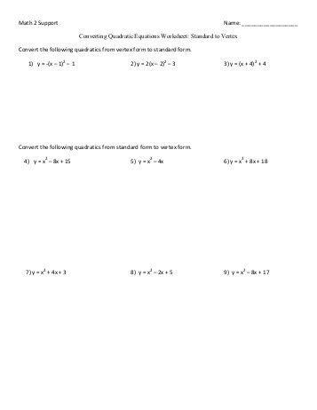 Quadratic Equations  Area Problems  Worksheet Aq1 Answerspdf