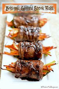 Balsamic Glazed Steak Rolls Picture the Recipe