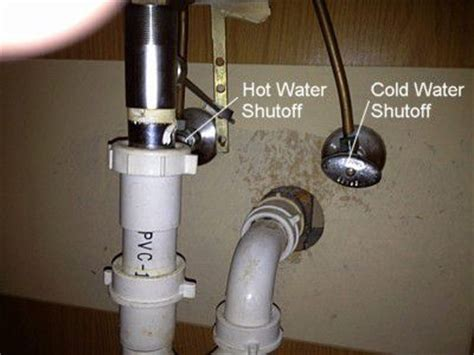 kitchen sink water shut valve how to remove a bathroom cabinet vanity 9582