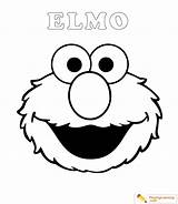 Elmo Coloring Easy Sheet sketch template