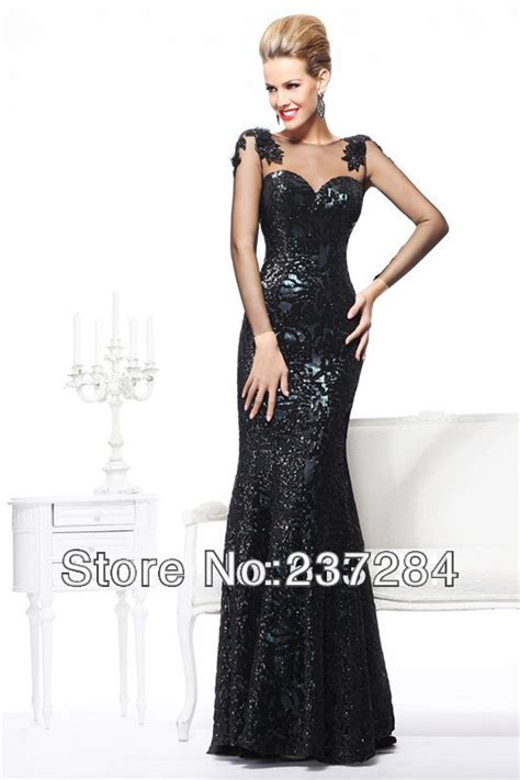 Best Kitchen Supplies by Wholesale Long Sleeve Black Mermaid Evening Dress For
