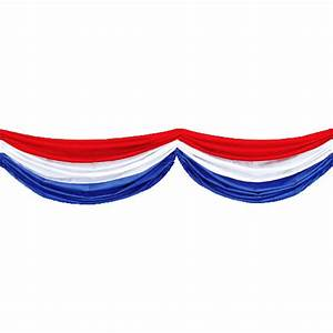 Red, White, & Blue Fabric Bunting 4th of July
