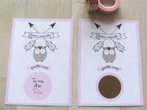 cadeau pour un mariage carte à gratter annonce grossesse pour future tata pop studio