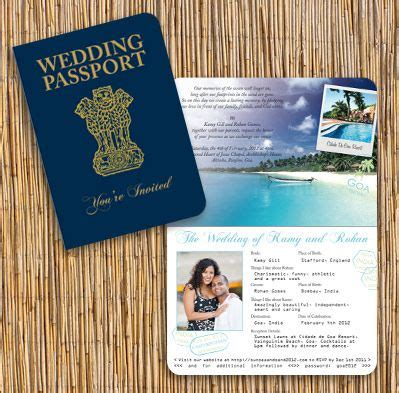 indian passport invitation passport invitations wedding