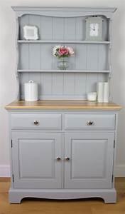 Vintage, Light, Grey, Welsh, Dresser