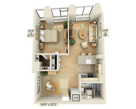 chambre a coucher style le plan maison d 39 un appartement une pièce 50 idées