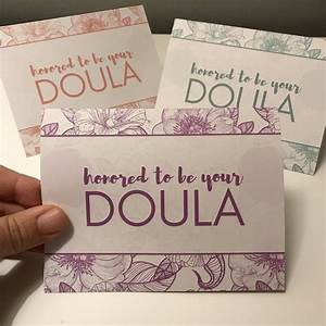 Doula Notecards, great for postpartum visits, client gifts ...