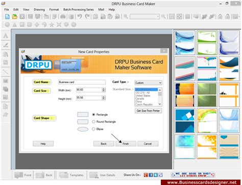 screenshots  business cards designer software helps