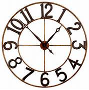 Wall Clocks Large by Large Numbers Wall Clock Eclectic Wall Clocks Atlanta By Iron Accents