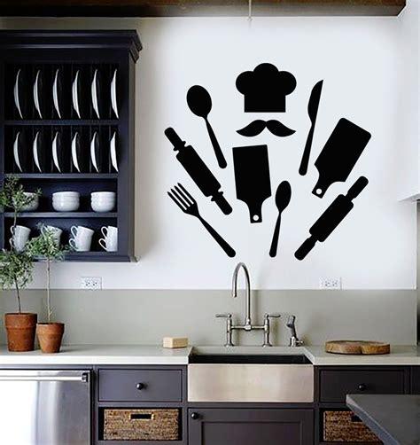Kitchen Decor Vinyl by Vinyl Wall Decal Chef Kitchen Restaurant Decor Cook
