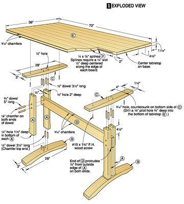 dining table construction plans wood table plan project plans for wood tables and desks