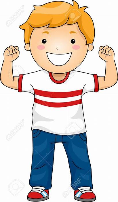 Clipart Strong Children Muscles Child Boy Showing