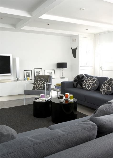 Modern Home Design Ideas Gray gray contemporary modern family room living room design