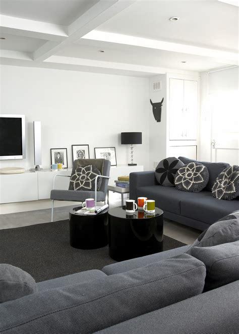 Gray Contemporarymodern Family Room  Living Room Design