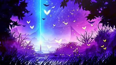 Forest Wallpapers Purple Fantasy Magical Lavender Anime