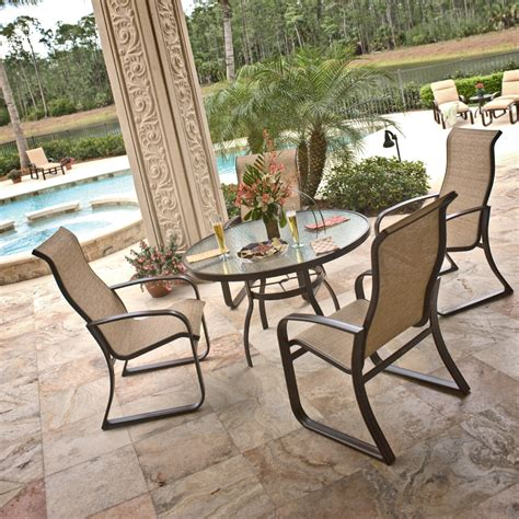 woodard cayman isle sling patio dining set wd