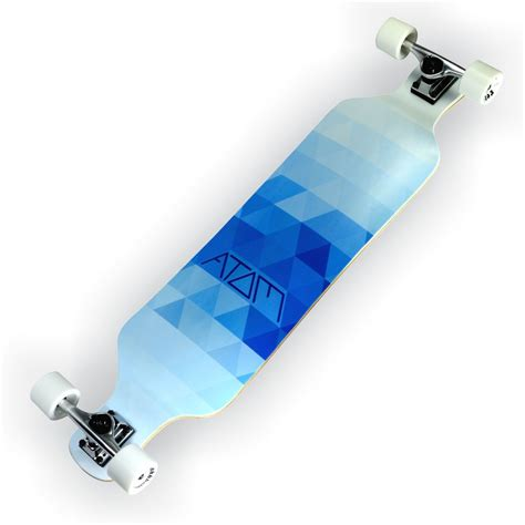 Atom Drop Deck Longboard by Atom 39 Quot Drop Deck Longboard Blue Triangles California