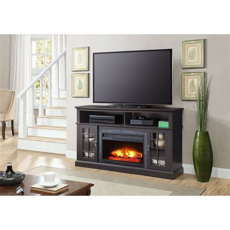 Media Fireplace Tv Stand Tvs Up To 65 Black White