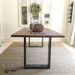 diy rustic modern dining table shanty 2 chic frugal With diy rustic dining room table