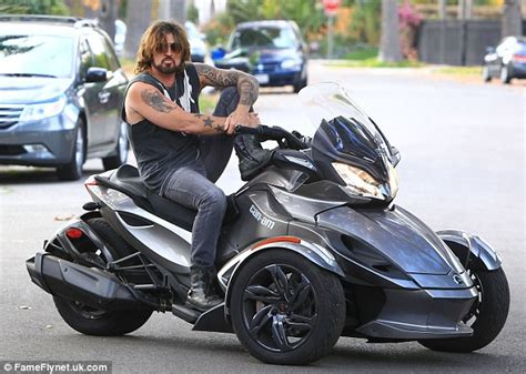 Billy Ray Cyrus Goes For A Spin On His Can Am Spyder Just
