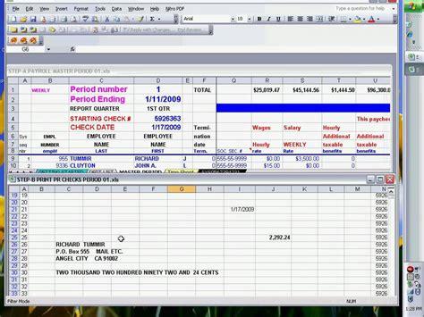 payroll checks  excel ready  print youtube