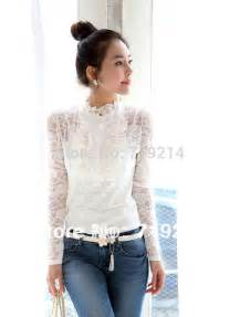 beautiful white high neck blouse new with long sleeve lace