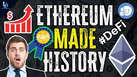 ETHEREUM PRICE: MAKES HISTORY | DeFi PUSHING ETHEREUM ...