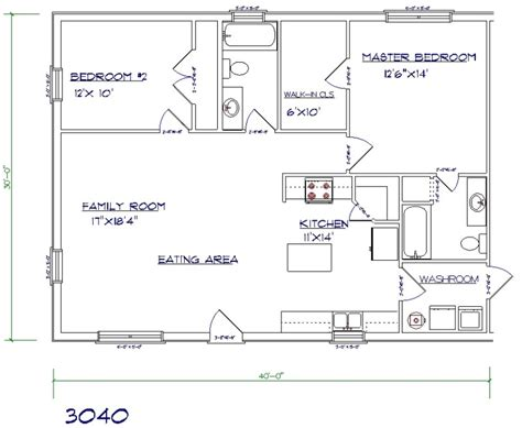 30x30 2 bedroom floor plans 30 barndominium floor plans for different purpose