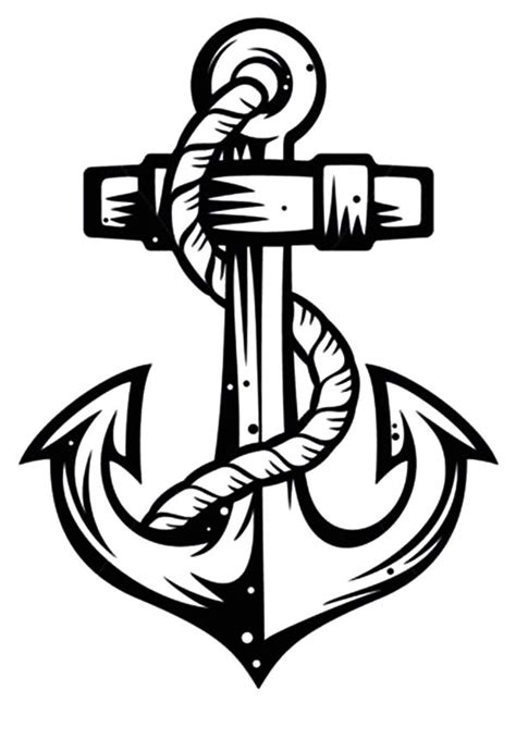 Sketch Of Anchor Coloring Pages : Bulk Color | Anchor tattoos, Wood logo, Tattoo designs