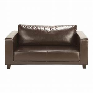 canape 2 places marron nikeo maisons du monde With canape marron 2 places