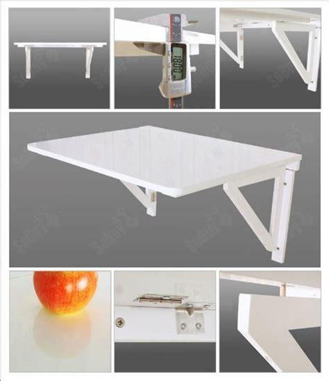 sobuy fwt05 w table murale rabattable pliable en bois 75