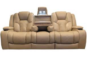 leather livingroom furniture turismo power reclining sofa with drop table