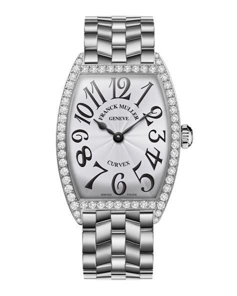 Franck Muller Ladies Curves Stainless Steel Diamond Watch